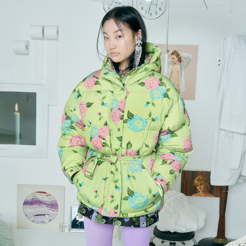 [더센토르] ROSE GOOSE DOWN JUMPER [LIME]