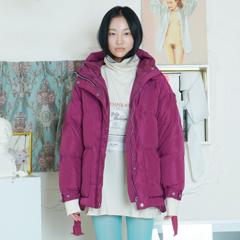 [더센토르] BABY COLORATION GOOSE DOWN SHORT JUMPER [PURPLE]