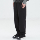 [filobisknot] 2 tuck wide pants_BLACK