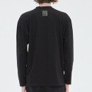 [filobisknot] mixed fabric long sleeve_BLACK