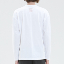 [filobisknot] mixed fabric long sleeve_WHITE
