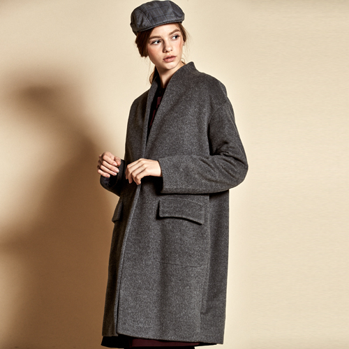 [더케이스토리] Simple Wool Coat_ Grey