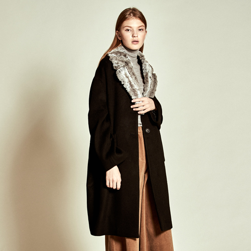 [더케이스토리] Tailored Wool Coat_ Black
