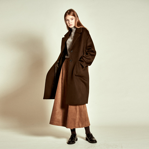 [더케이스토리] Tailored Wool Coat_ Khaki