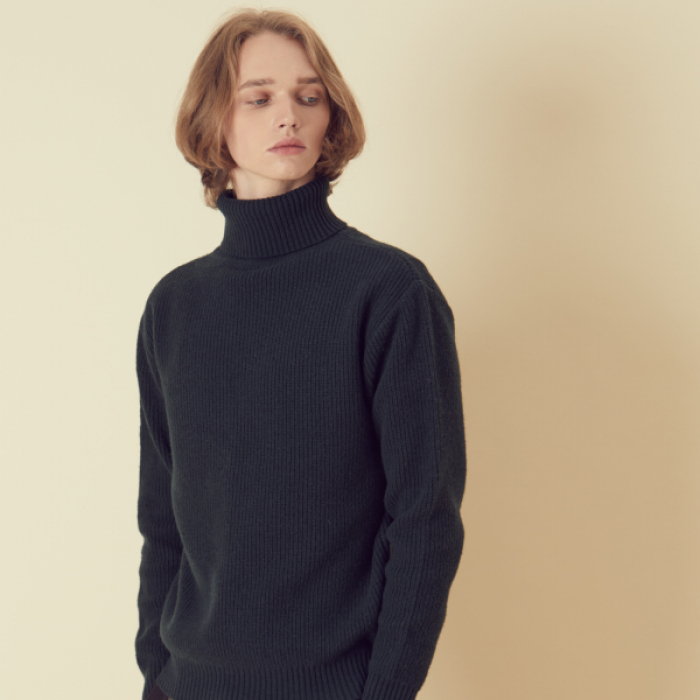 [아르테노] Wool80 Turtle neck Knit - Khaki