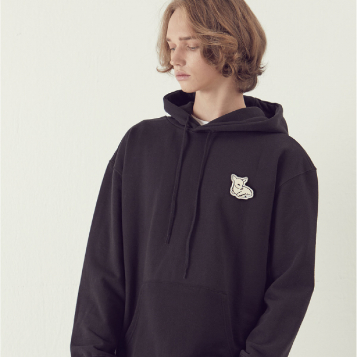 [아르테노] Deer Point Hoodie - Black