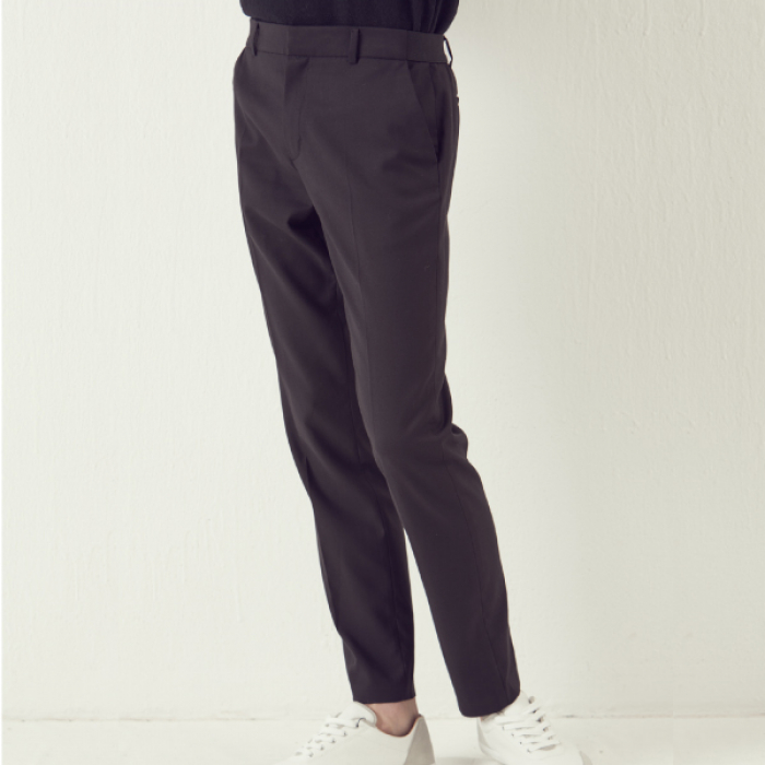 [아르테노] Wool Blending Half Banding Slacks