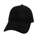 EV Plain Suade Cap (Black)