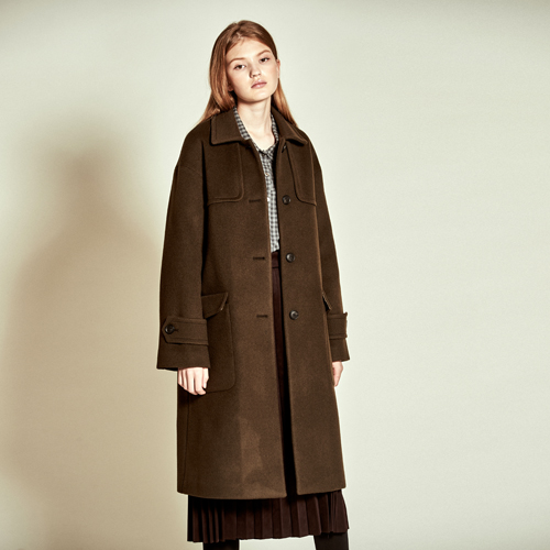 [더케이스토리] [Thekstory] Double Patch Cashmere Wool Coat_Khaki