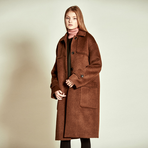 [더케이스토리] [TheKstory]Double Patch Alpaca Wool Coat_ Camel