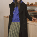 [로지에] 18fw R ocean long coat black