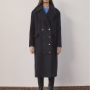[로지에] 18fw R ocean long coat navy
