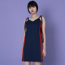 [라잇루트]Navy Side Line Track Dress [이주영]