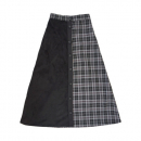 [라잇루트]BLACK CHECK COLOR LONG SKIRT [강한솔]