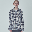 OVER FIT WINTER CHECK SHIRTS IVORY