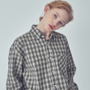 OVER FIT STAN CHECK SHIRTS BEIGE