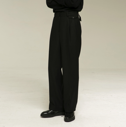 [노이어] [noirer]Wool Two-Tuck Wide Pants LTD