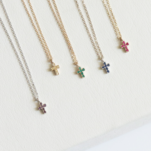 [엘리오나] 14k gold Mini Cross Necklace