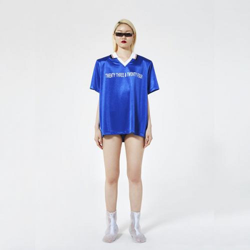 [이십삼앤이십사][23&24]SHOULDER SOCCER TEE(BLUE)