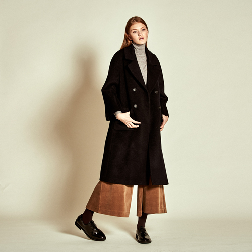 [더케이스토리] Double Button Alpaca Wool Coat