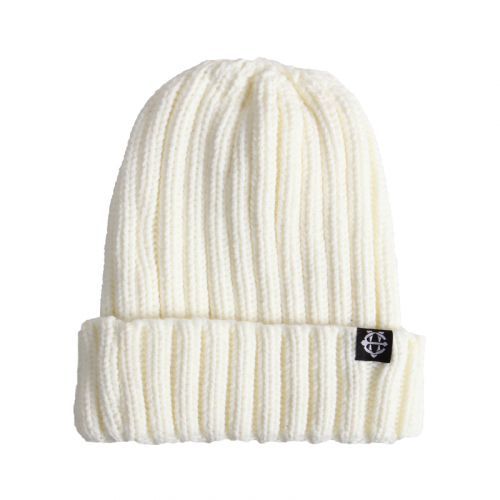 [에잇볼륨] EV Plain Pop Beanie (White)