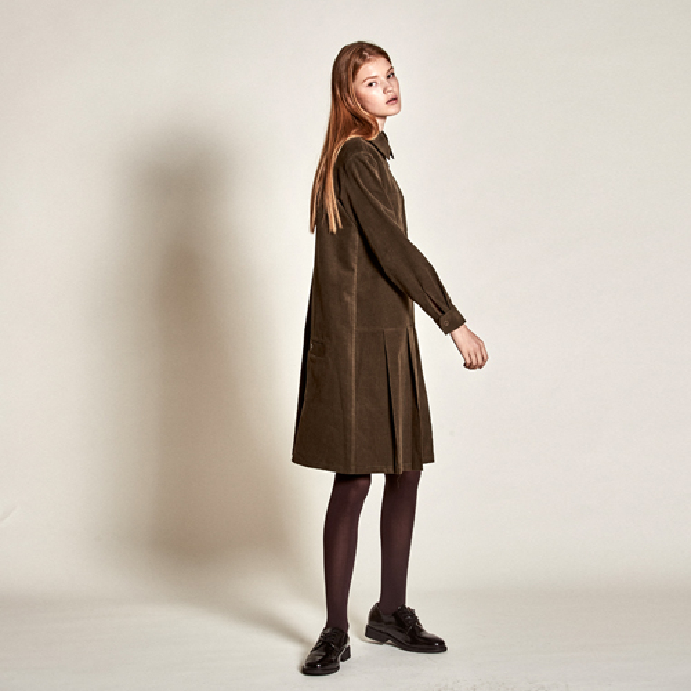 [더케이스토리] Corduroy Pocket Dress_ Khiki