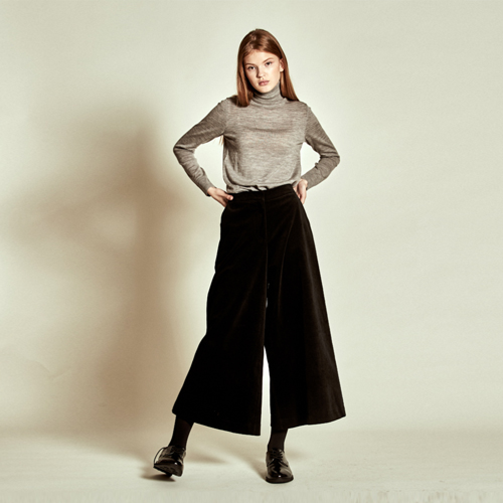 [더케이스토리] Corduroy Wide Pants_ Black