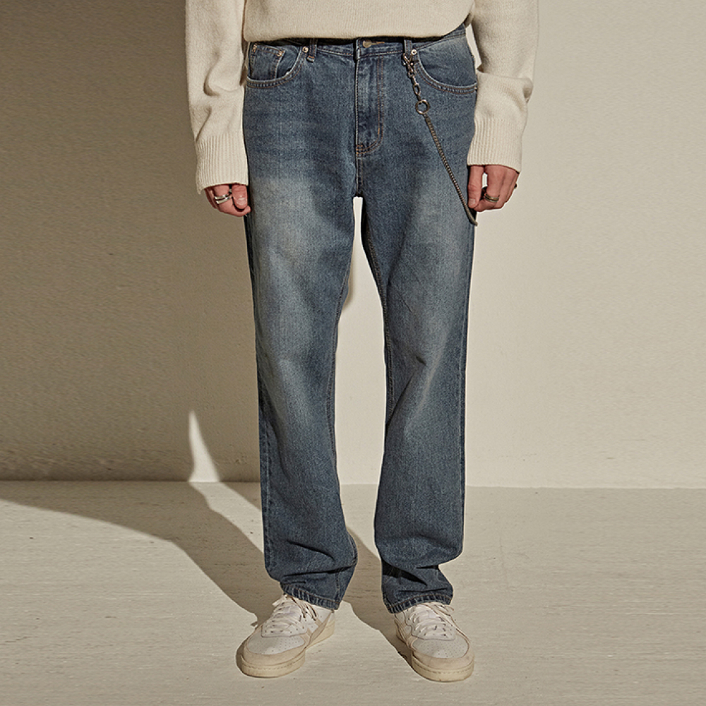 [YAN13] LONG SEMI WIDE JEAN_DENIM