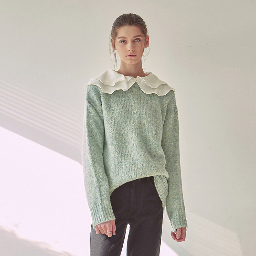 [YAN13] BOKASHI OVER SWEATER_MINT