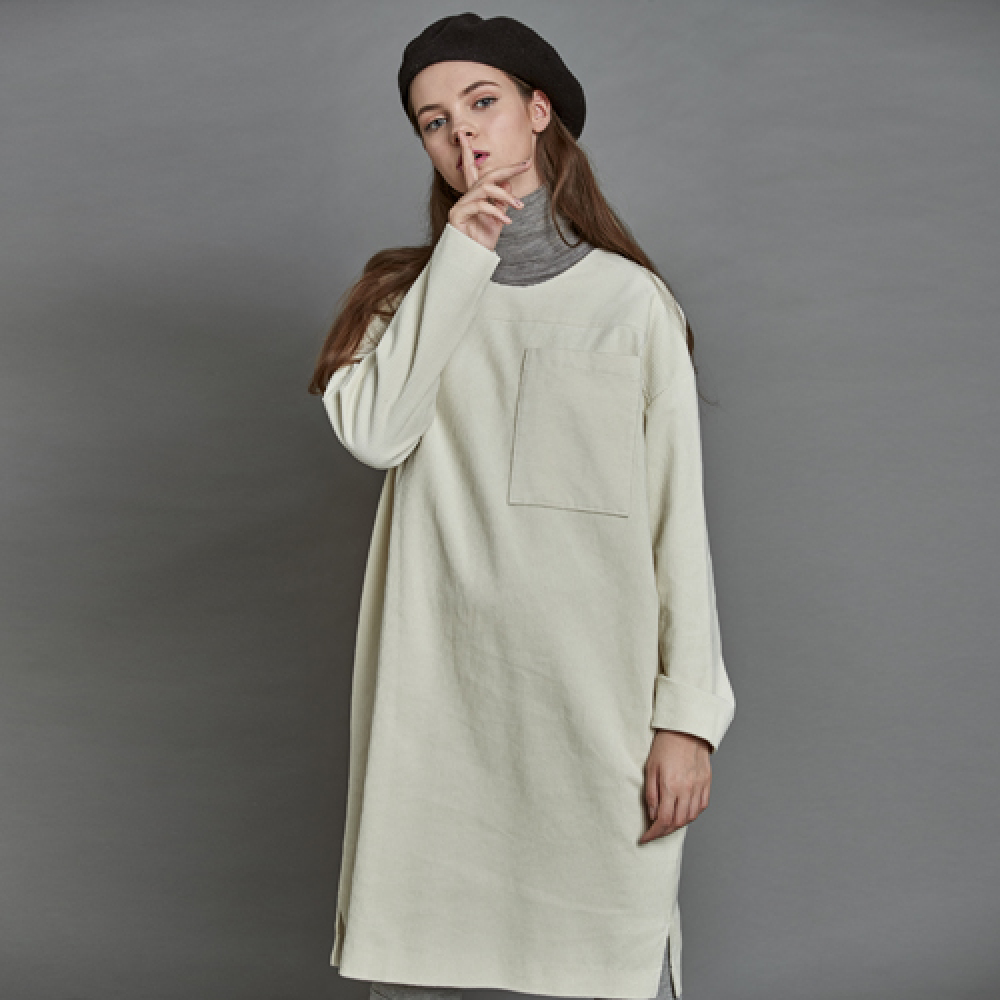 [더케이스토리] Corduroy Dress_ Off white