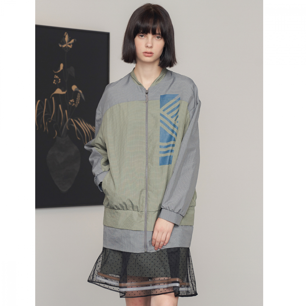 [제이비리파인] DRAWING PRINT PASTEL ZIP JUMPER