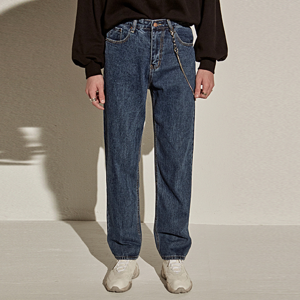 [YAN13] BLUE WIDE STRAIGHT JEAN_DENIM