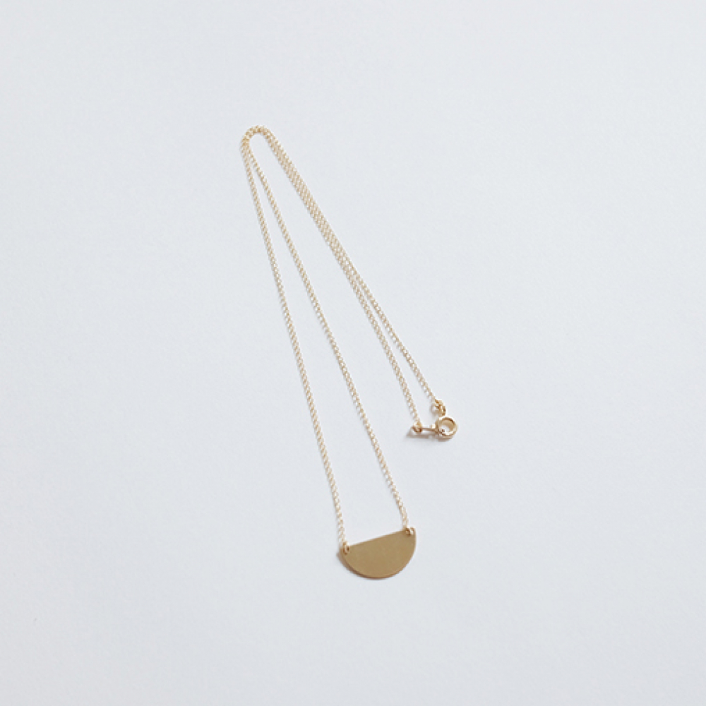 [비베] Semicircle Necklace