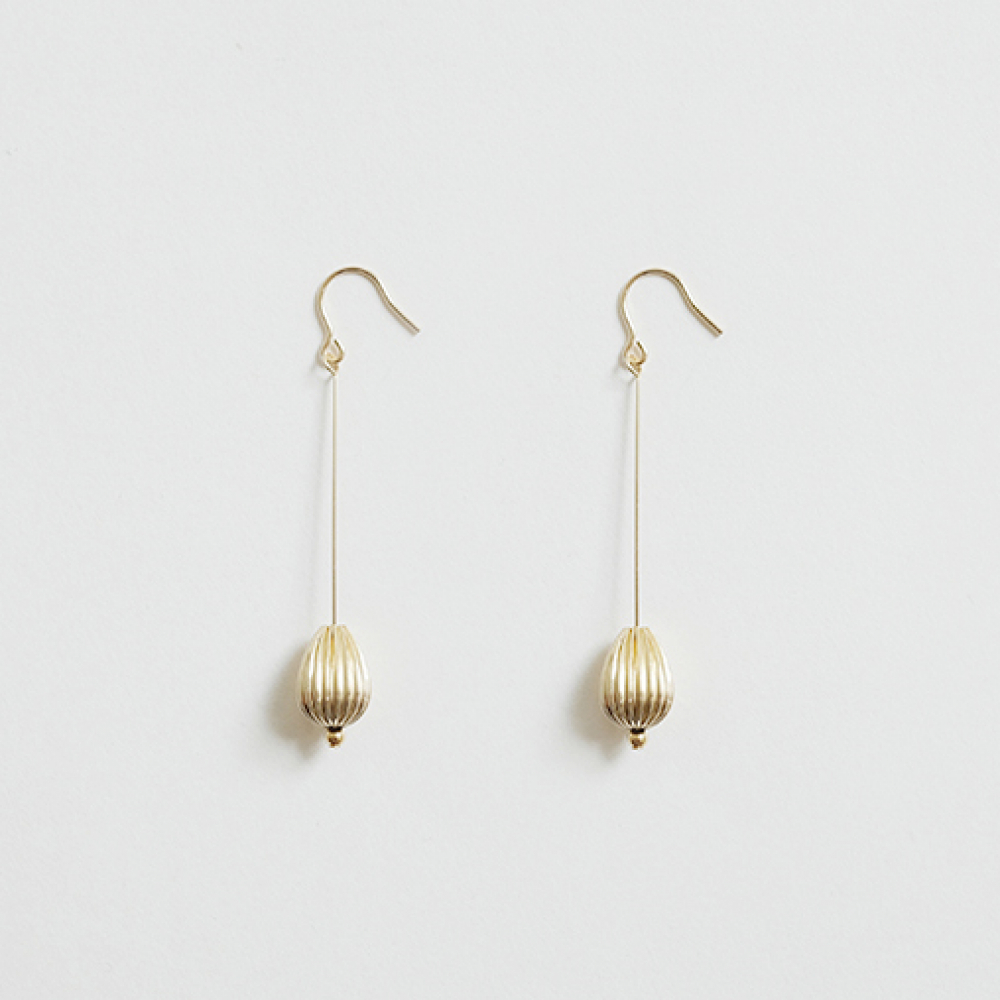 [비베] Oval Drop Earing