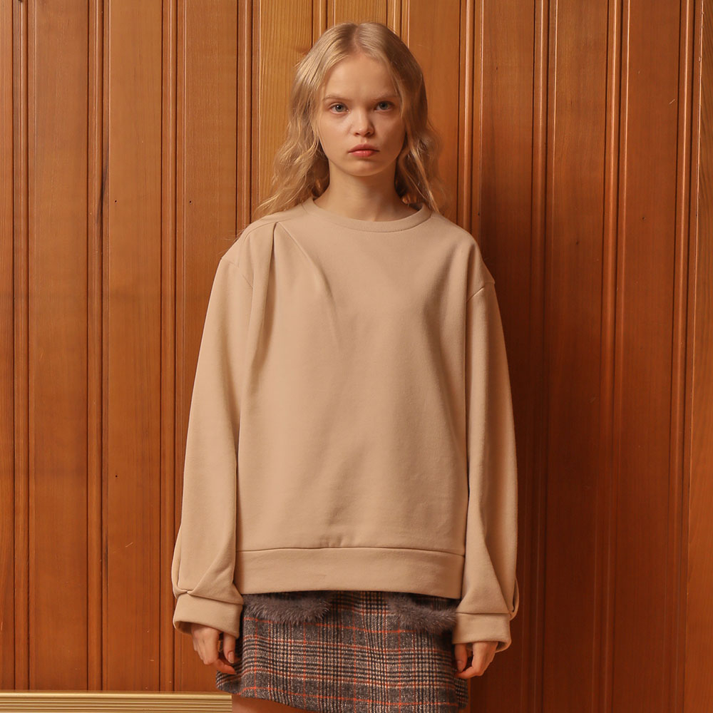 [와드로브] [WARDROBE] TUCK POINT SWEATSHIRT_BEIGE