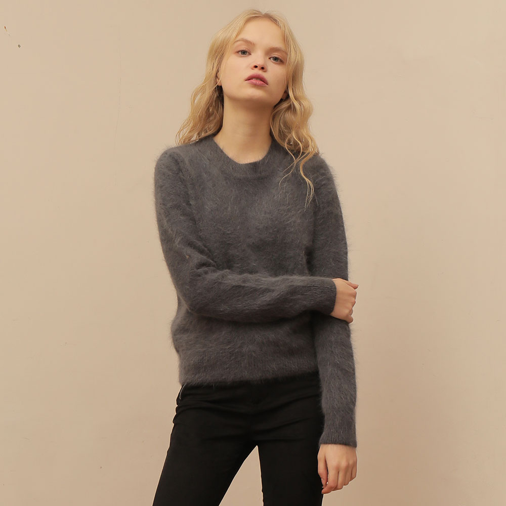 [와드로브] [WARDROBE] ANGORA BASIC KNIT_GRAY