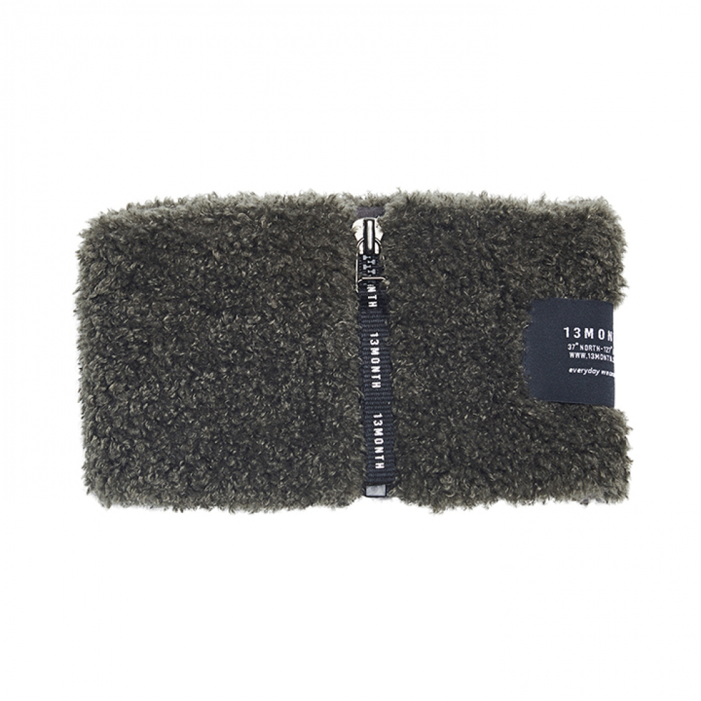 [써틴먼스] BOUCLE NECK WARMER (CHARCOAL)
