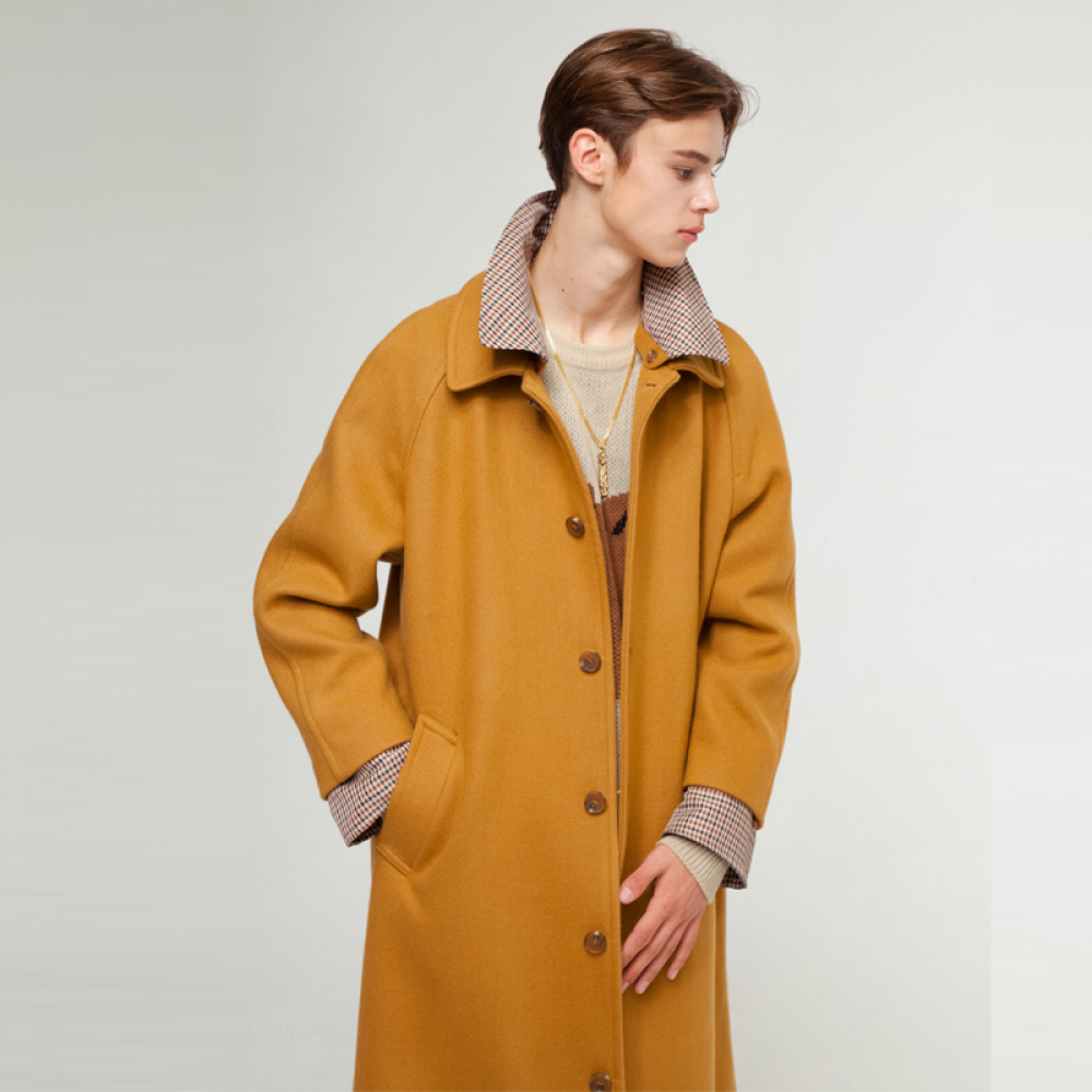 [더그레이티스트] GT18FW09 CHECK WOOL COAT