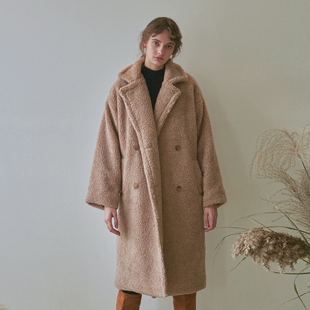 [YAN13] DUMBLE LONG MUSTANG COAT_BEIGE