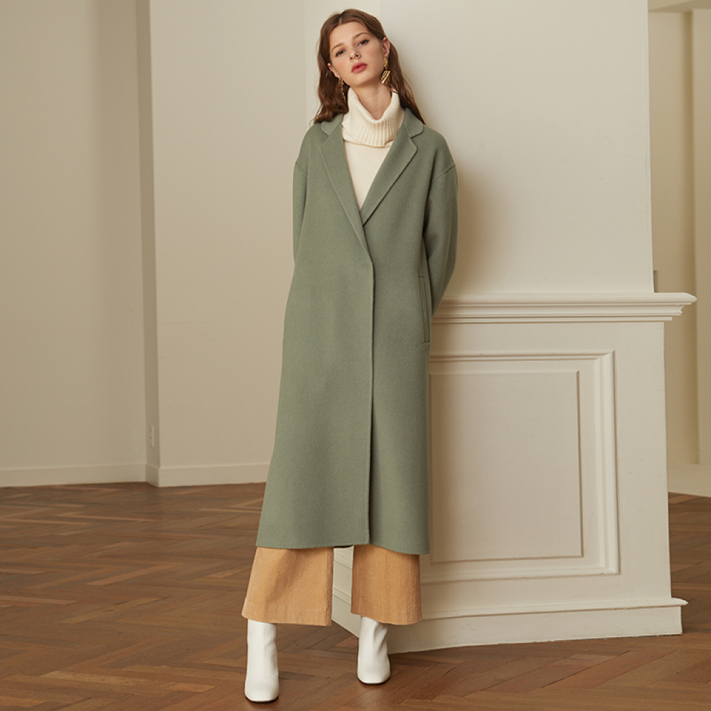 [룩캐스트] MINT BACK BELT HANDMADE COAT