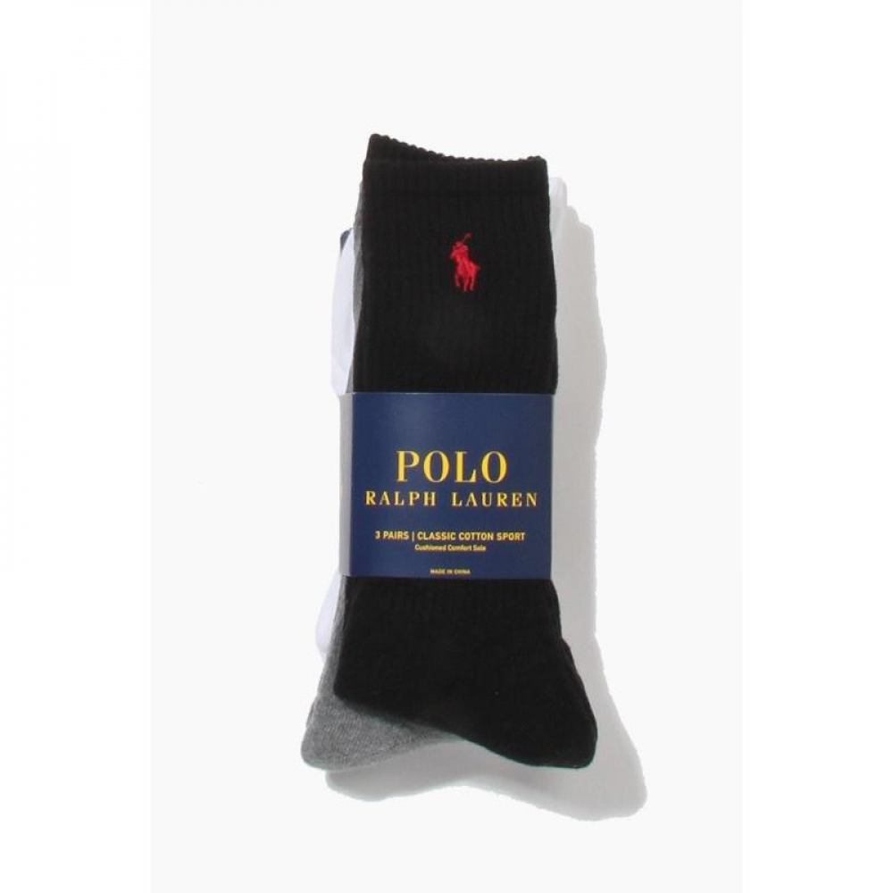 POLO classic cotton sports Socks 3pack Ast