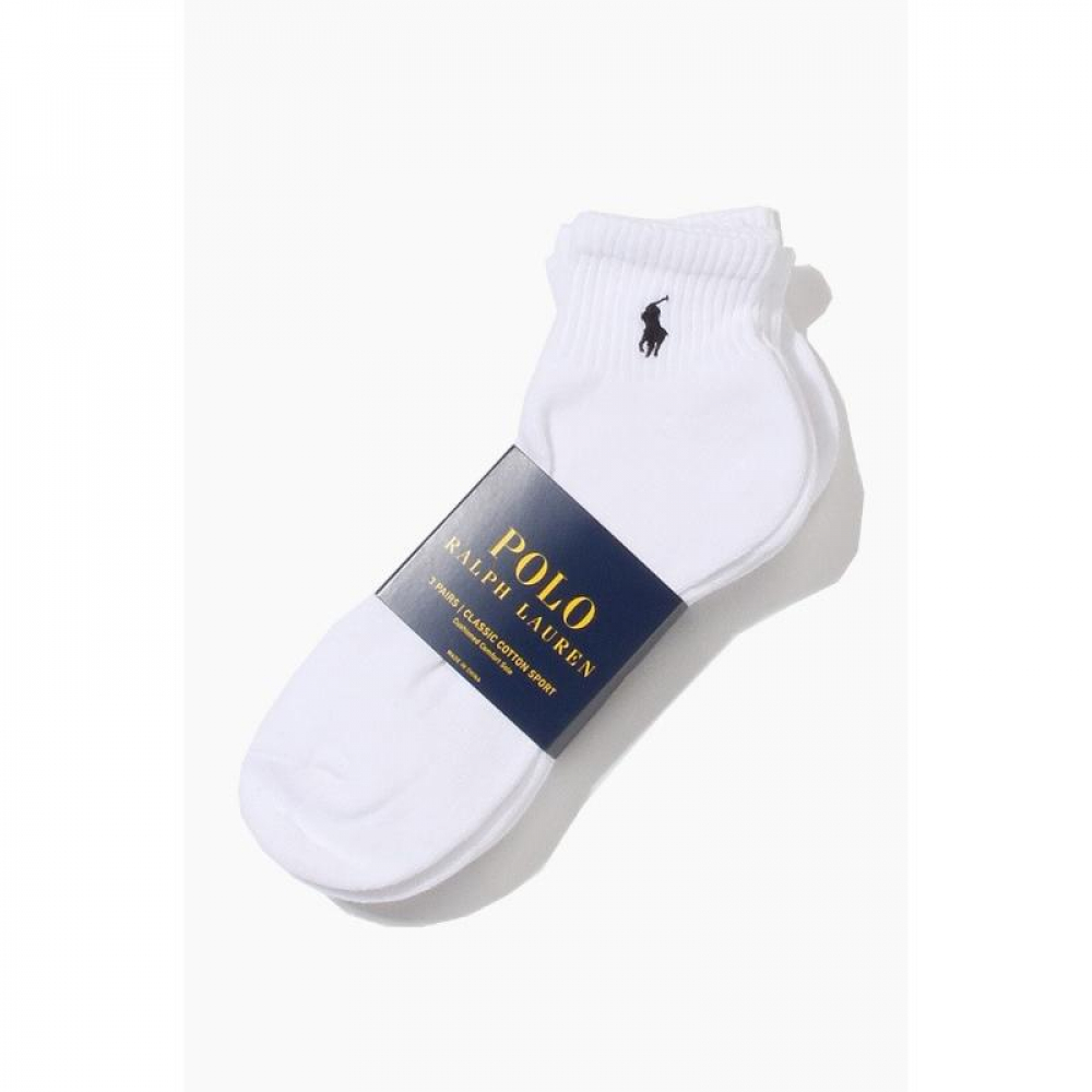 POLO classic cotton sports Half Socks 3pack White