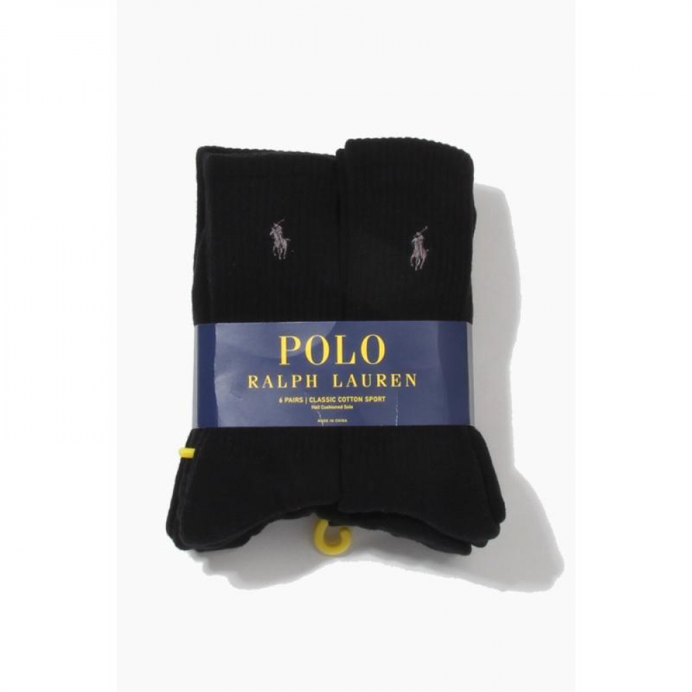 POLO classic cotton Socks 6pack Black/Charcoal