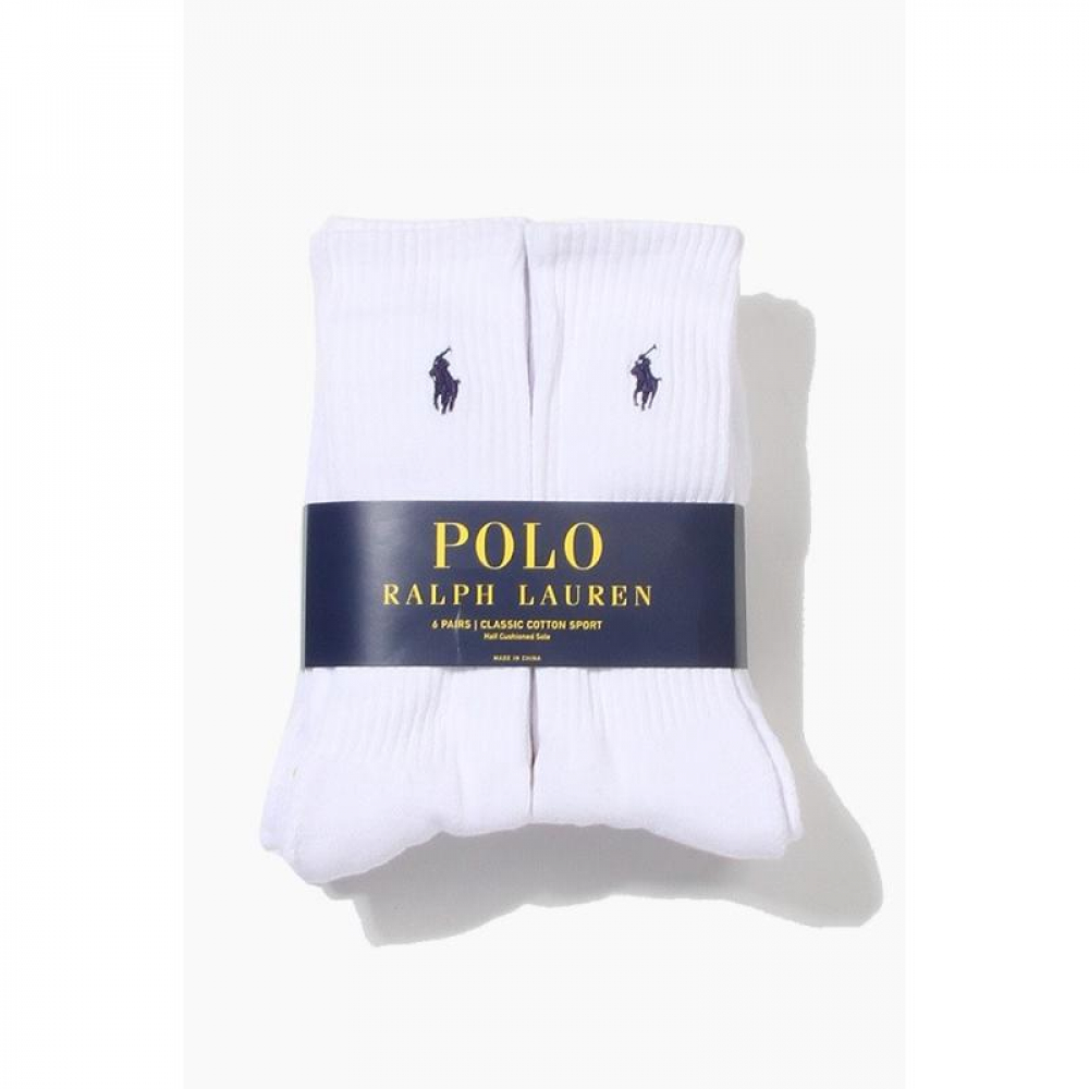 POLO classic cotton sports Socks 6pack White