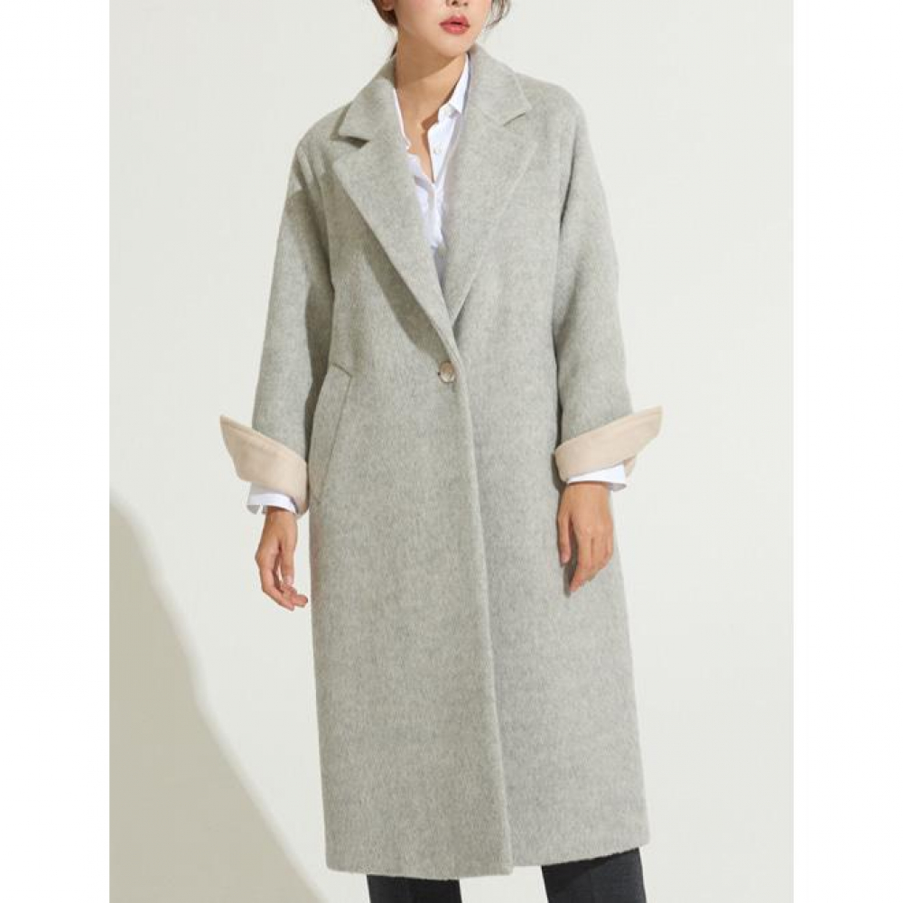 [VOYONN] 18 F/W 005 LIGHT GRAY COAT