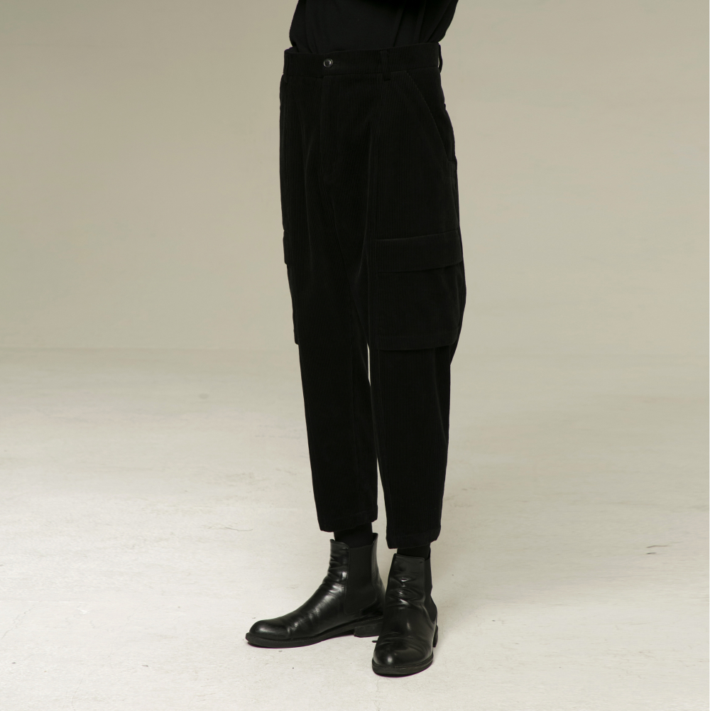 [노이어] [noirer]Corduroy  Field Baggy Pants