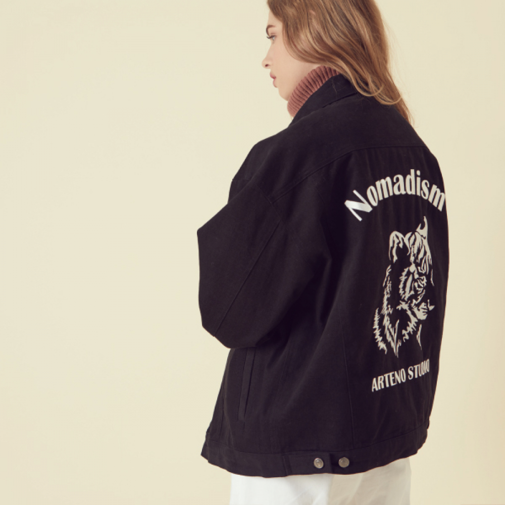 [아르테노] Nomadism Trucker Jacket - Black