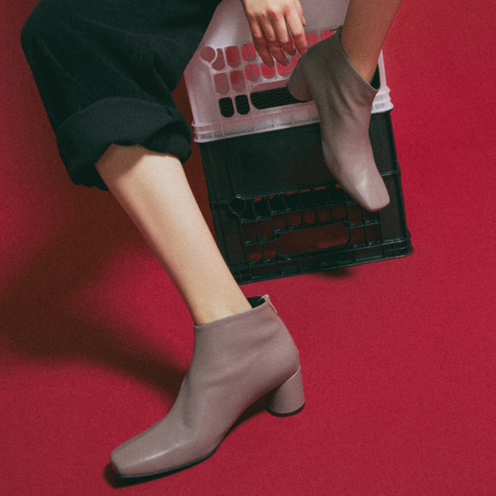 [꼼므지] Basic Ankle Boots / CG1030BE