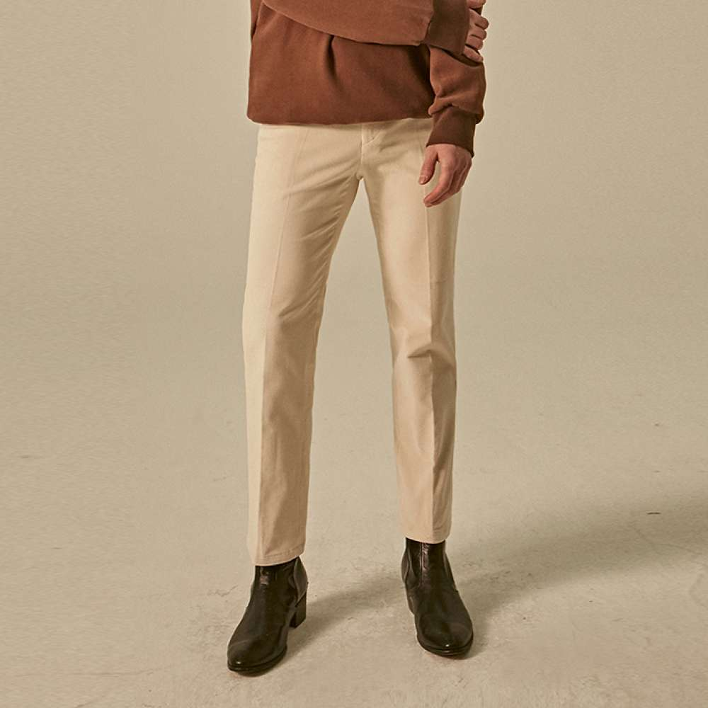 [DEANS] CORDUROY NEW STRAIGHT PANTS_CREAM