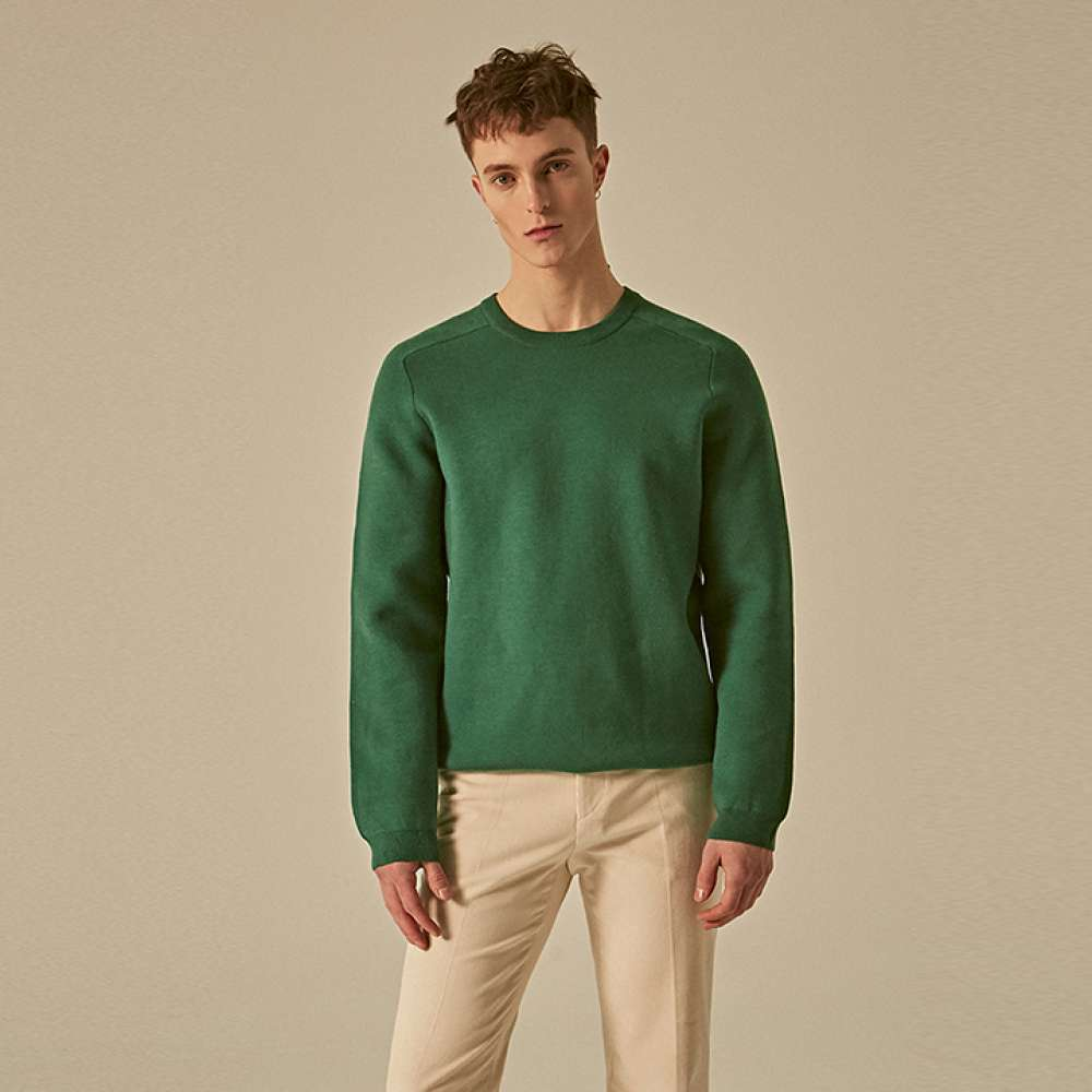 [딘스] RAGLAN SOLID OVER KNIT_GREEN
